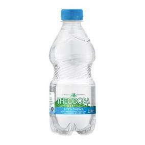 Ásványvíz, szénsavas, pet palack,  0,33 l, THEODORA [min: 12db]