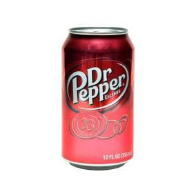 Üdítőital, szénsavas, 0,33 l, dobozos, DR PEPPER [min: 24db]