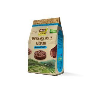 Barnarizs chips, 50 g, RICE UP, tejcsokoládés