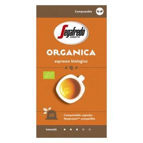 Kávékapszula, 10 db, SEGAFREDO Organica - Nespresso® kompatibilis ökológiailag lebomló kapszula