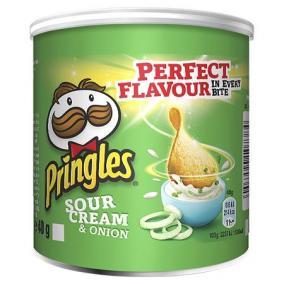 Chips, 40 g, PRINGLES, hagymás-tejfölös