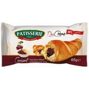 Croissant, 65 g, PATISSERIE, vanília és meggy