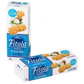 Keksz, hozzáadott cukor nélkül, 130 g, OLA, kókuszos