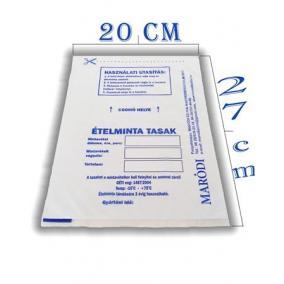 Ételminta tasak, 20x27 cm, 500 db [500 db]