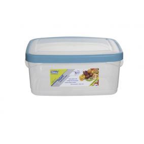 Ételtartó, szögletes, 2 liter, WHITEFURZE, türkizkék