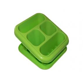 Evőeszköz tartó +alj , műanyag, álló, 18x16x13cm