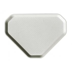 Önkiszolgáló tálca, háromszögletű, műanyag, éttermi, fehér-mákos, 47,5x34 cm