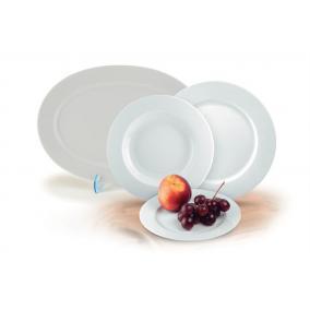 Desszertes tányér, ROTBERG, fehér, 19 cm, 6db-os szett,
