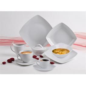 Desszertes tányér, ROTBERG, fehér, 20cm, 6db-os szett,