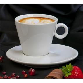 Kávéscsésze+alj, fehér, 22cl, 2db-os szett,
