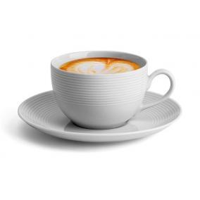 Kávéscsésze+alj, ROTBERG, fehér, 25cl, 6db-os szett,