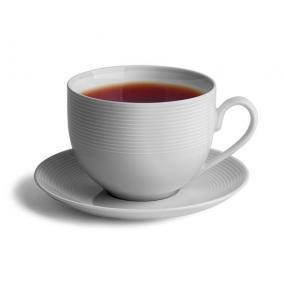 Teáscsésze+alj, ROTBERG, fehér, 45cl, 4db-os szett,
