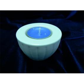 Mécsestartó, porcelán,   4,5 cm, ROTBERG, fehér