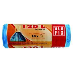 Szemeteszsák, zárószalagos, 120 l, 10 db, ALUFIX, kék [10 db]