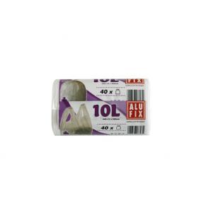 Szemeteszsák, köthető füllel, 10 l, 40 db, ALUFIX [40 db]