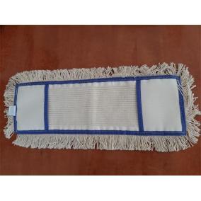 Lapos felmosó huzat, zsebes, pamut, 50 cm