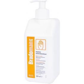 Kézfertőtlenítő szer, higiénés, pumpás, 500 ml, BRADOMAN