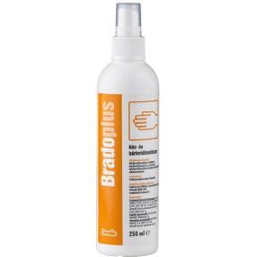 Kéz- és bőrfertőtlenítőszer, pumpás, 250 ml, BRADOPLUS