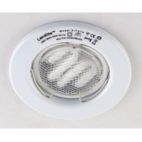 KIT-57A-3, 3db 7W GU10 230V fehér kompakt fénycső, fix, beépíthető szett, fehér