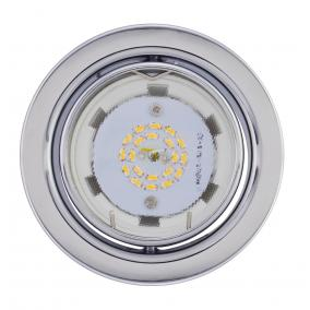 KIT-60A-3, 3db 3W GU10 230V melegfehér LED izzó, billenthető, beépíthető szett, matt króm