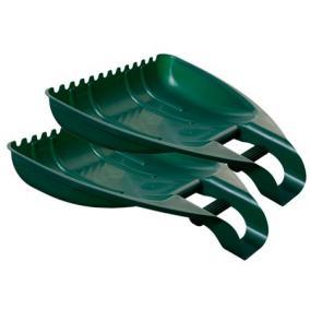 Kerti lombgyűjtő, két részes, WHITEFURZE, zöld [2 db]