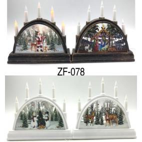 Karácsonyi LED-es gyertyaív, 5 izzó - többféle [1 db]
