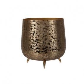 Kaspó lábbal alumínium 12 cm x 14,5 cm arany