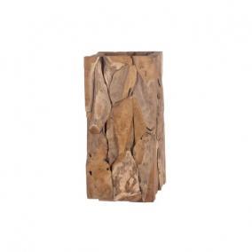 Kaspó szögletes fa 38 cm x 38 cm x 78 cm natúr