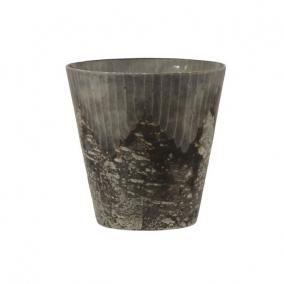 Kaspó üveg 15cm x15cm arany antik