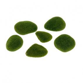 Kavics mohás zöld flokkolt [6 db]