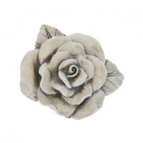 Kegyeleti rózsa poly 6cm x5,5cm x4cm szürke