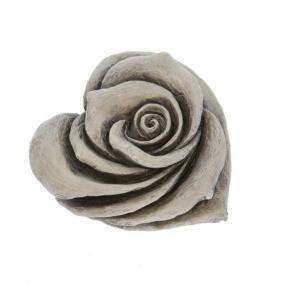 Kegyeleti rózsa poly 7,5cm x7,5cm x4cm szürke