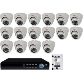Komplett 16 dome infrakamera SANAN AHD rendszer