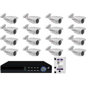 Komplett 16 infrakamera SANAN AHD rendszer