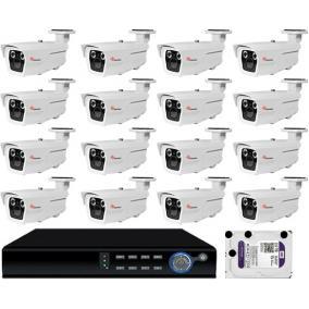 Komplett 16 varifokális infrakamera SANAN AHD rendszer