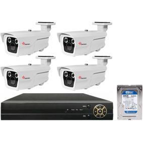 Komplett 4 varifokális infrakamera SANAN AHD rendszer