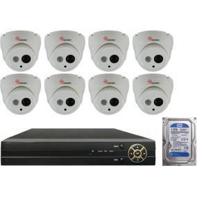 Komplett 8 dome infrakamera SANAN AHD rendszer