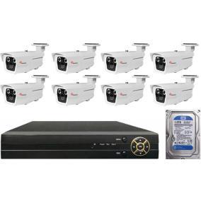 Komplett 8 varifokális infrakamera SANAN AHD rendszer