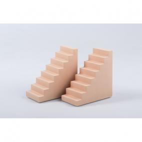 Könyvtámasz lépcső alakú poly 11x6x5cm pink