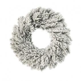 Koszorú havas műanyag 65cm