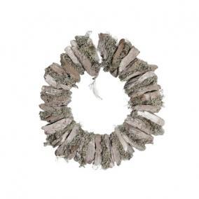 Koszorú kéregből 38cm fehér
