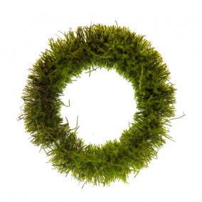 Koszorú növényi rost kerek 30cm zöld