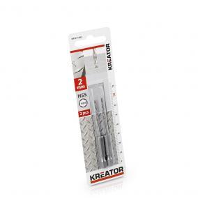 Kreator csigafúró készlet 2 részes 2.0x70 mm-es HEX szár