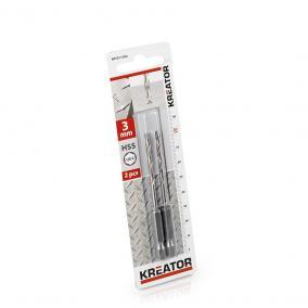 Kreator csigafúró készlet 2 részes 3.0x82 mm-es HEX szár