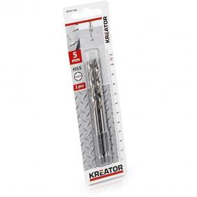 Kreator csigafúró készlet 2 részes 5.0x107 mm-es HEX szár