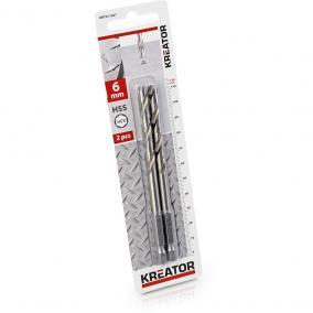 Kreator csigafúró készlet 2 részes 6.0x114 mm-es HEX szár