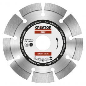 Kreator gyémánt vágótárcsa 115 mm Expert 6 mm KRT087100