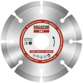 Kreator gyémánt vágótárcsa 115 mm Prémium KRT082101