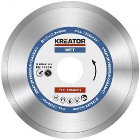 Kreator gyémánt vágótárcsa 125 mm Prémium Nedves KRT081102