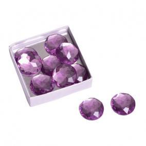 Kristály kő acryl 25mm ibolya lila (10 db/szett)